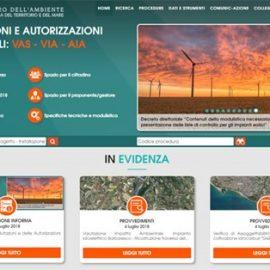 Valutazioni Ambientali VAS e VIA, online il nuovo portale