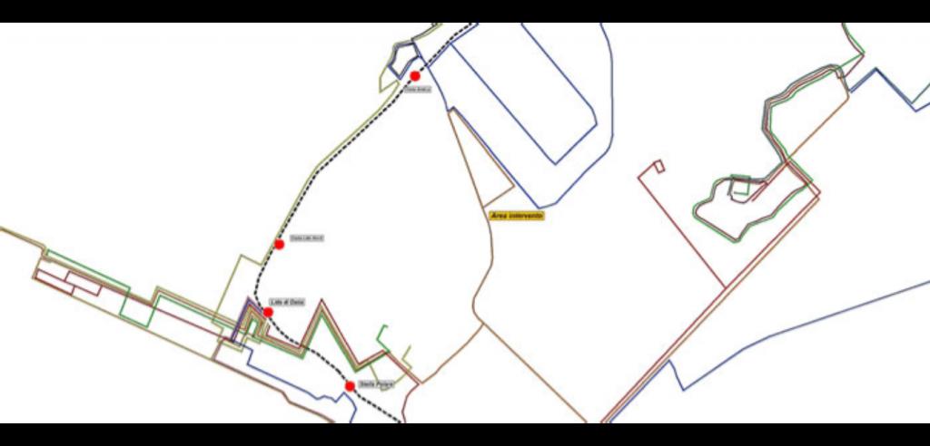 Ricostruzione del grafo della rete viaria